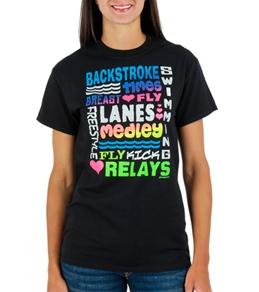 Image Sport Swim Glitter Words T-Shirt