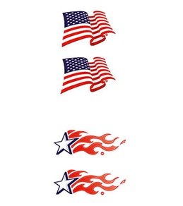Swim Tattoos USA Flags