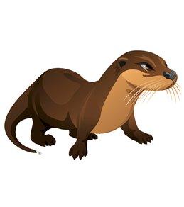 H2O-Toos Swim Tattoos Otter