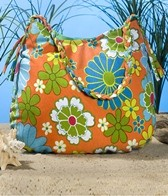 Sutra IMPEX 2006 Orange Flower Beach Bag