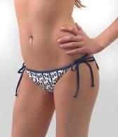 Local Motion Fleur De Le Tie Side Hipster Bikini Bottom