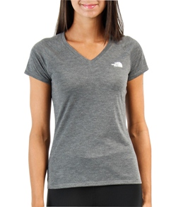 The North Face Women's Short Sleeve Reaxion Running V-Neck Tee