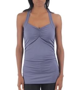 LIJA Women's Compression Gathered Yoga Tank Top