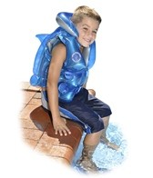 Swimline Swim With The Dolphins Inflatable Vest Trainer