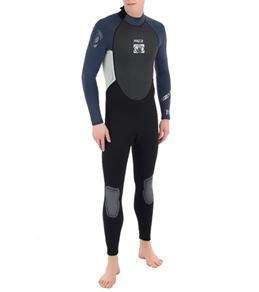 Body Glove Men's Pro 3 3/2MM Back Zip Fullsuit