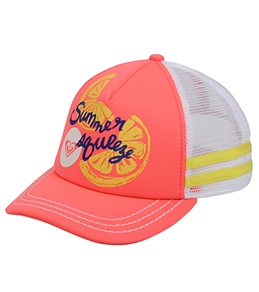 Roxy Girls' Splashin Lemon Trucker Hat (Kid)