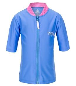 Platypus Girls' Mermaid Swirl S/S Zip Rash Jacket (2-8)