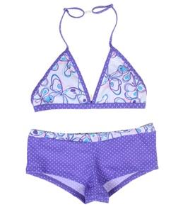 Platypus Girls' Butterfly Boyleg Bikini Set (10-14)