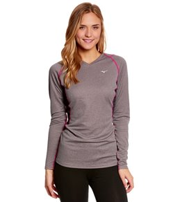 Mizuno Women's Breath Thermo Wool V-Neck Running Top