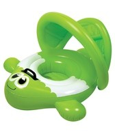 Poolmaster Green Guppy Baby Seat With Canopy