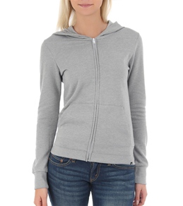 Hurley Women's Solid Slim Fleece Zip Hoodie