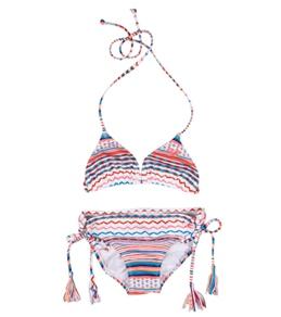 Roxy Girls' Autumn Breeze Tiki Triangle Set (7-16)