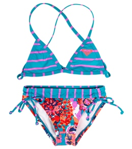 Roxy Girls' Running Wild Fixed Criss Cross Set (2-7)