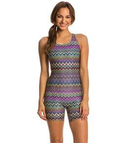 EQ Swimwear Spectrum Print Polyester Unitard
