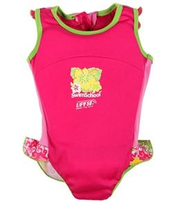 Aqua Leisure Girls' 1PC Float Suit (20-55lb)