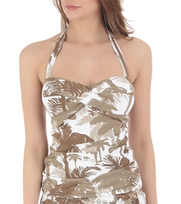 Tommy Bahama Coconut Grove Palm Trees Halterkini Top