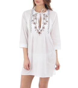 Tommy Bahama Tiki Moon Embroidered Tunic