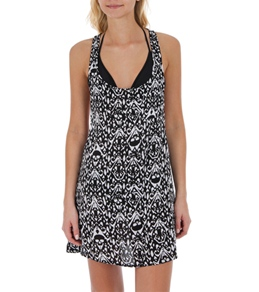 Volcom Women's Outerrealms Printed Cover Up Dress