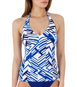 Profile by Gottex Graphic Nature D Cup Tankini Top
