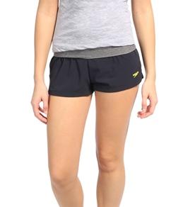 Speedo Women's Heathered 4 Way Stretch Short