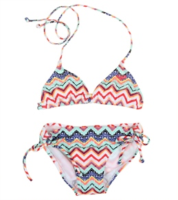 Roxy Girls' Eternal Summer Triangle Set (7-16)