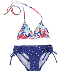 Roxy Girls' Blooming Bliss Ruffle Triangle Set (7-16)