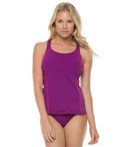 Speedo Watergrid Splice Tankini Swimsuit Set