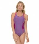 Speedo Heathered Muscleback One Piece Swimsuit