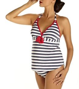 Pez D'or Maternity Blue Marine Tankini Set