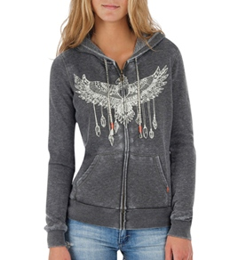 Billabong Women's Wings Of Love Zip Up Hoodie