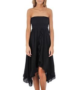 Raviya Crepe Tube Ruffle Dress