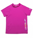 Speedo Girls' Raglan Short Sleeve Rashguard (7yrs-16yrs)