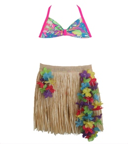Shebop Beach Girls' Hula Bikini Set (2-14)