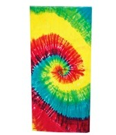 Royal Comfort Terry Velour Tie Dye Beach Towel 30 x 60