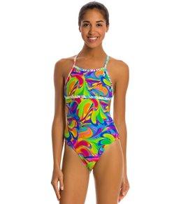 Illusions Activewear Priscilla Psychedelic Monokini One Piece Swimsuit