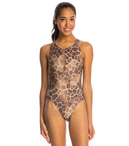 Illusions Activewear Leah Giraffe Water Polo One Piece