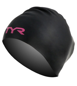 TYR Pink Long Hair Wrinkle Free Silicone Cap