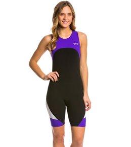 TYR Women's Carbon Zipper Back Short John w/Pad