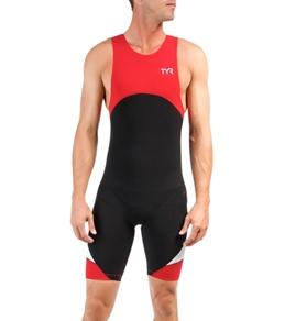 TYR Men's Carbon Zipper Back Short John w/Pad
