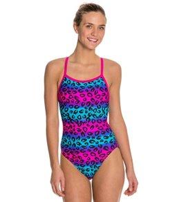 Waterpro Jungle Thin Strap One Piece Swimsuit