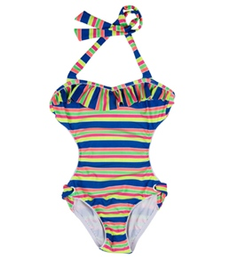 Seafolly Girls' Tropica Crush Cut Out One Piece (6-16)