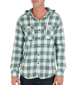 Quiksilver Men's Tripped Out L/S Hooded Flannel