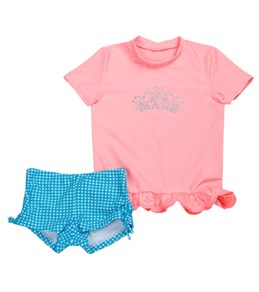 Seafolly Girls By The Shore Sunvest S/S Rashguard Set (4-7)