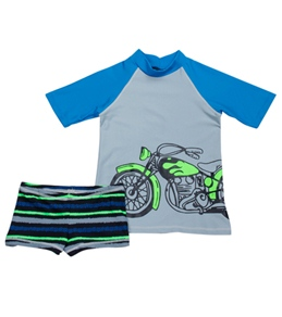 Tiger Joe Boys' Dirtbikez S/S Rashguard Set (6mos-8yrs)