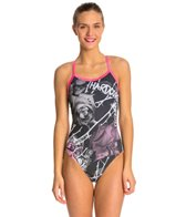 HARDCORESPORT Women's Thorns X Back One Piece Swimsuit