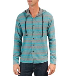 Billabong Men's Slammer L/S Hooded Flannel
