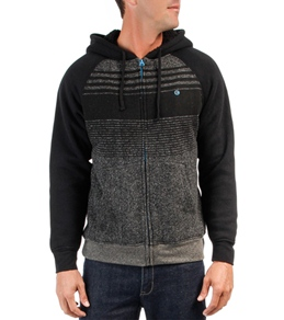 Billabong Men's Balance Sherpa Zip Up Hooded Fleece