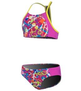 Speedo Girls' Graphic Graffiti Camikini Splice Two Piece (7-16)