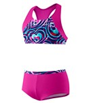 Speedo Girls' Summer Love Boyshort Two Piece (7-16)