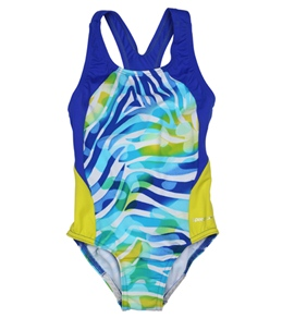 Speedo Girls' Camo Chameleon Keyhole Splice One Piece (7-16)